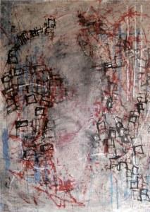 Budapest, technique mixte sur toile 157 x 183 cm