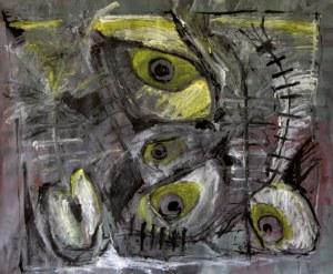 Byblos, acrylique et laque sur toile, 150 x 150cm