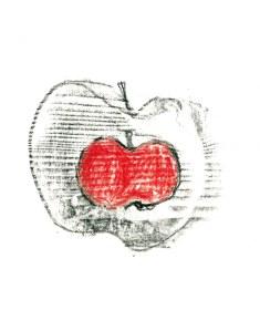 Pommes, mine de plomb sur papier, 14 x 21 cm