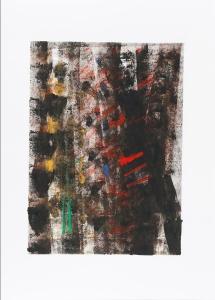 Variation, acrylique et encre de chine sur papier, 55 x 65 cm