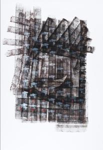 Variation, acrylique et encre de chine sur papier, 70 x 100 cm