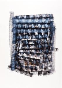 Variation, acrylique et encre de chine sur papier, 70 x 100cm