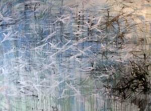 Jérusalem, technique mixte sur toile, 200 x 230 cm