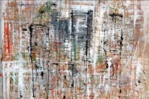 Kyoto, technique mixte sur toile, 210 x 230 cm