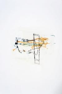 Série des Ponts, huile et mine de plomb, 34 x 55 cm